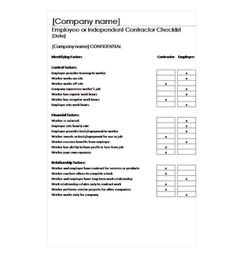 General Contractor Checklist Template Contractor Checklist