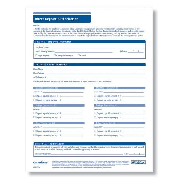 Generic Direct Deposit form 5 Generic Direct Deposit form Templates formats