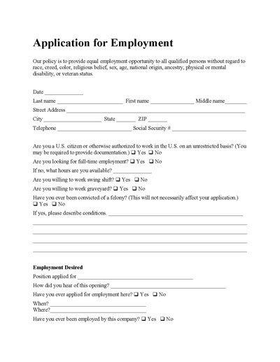 Generic Job Application Template Word Generic Job Application Template Word