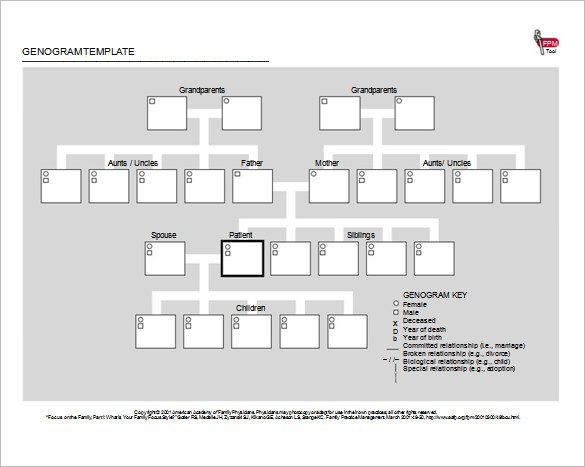 Genogram Template for Mac 36 Genogram Templates Pdf Word Apple Pages Google