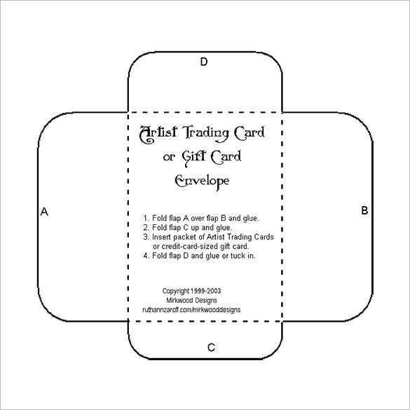 Gift Card Envelope Template 10 Gift Card Envelope Templates Free Printable Word