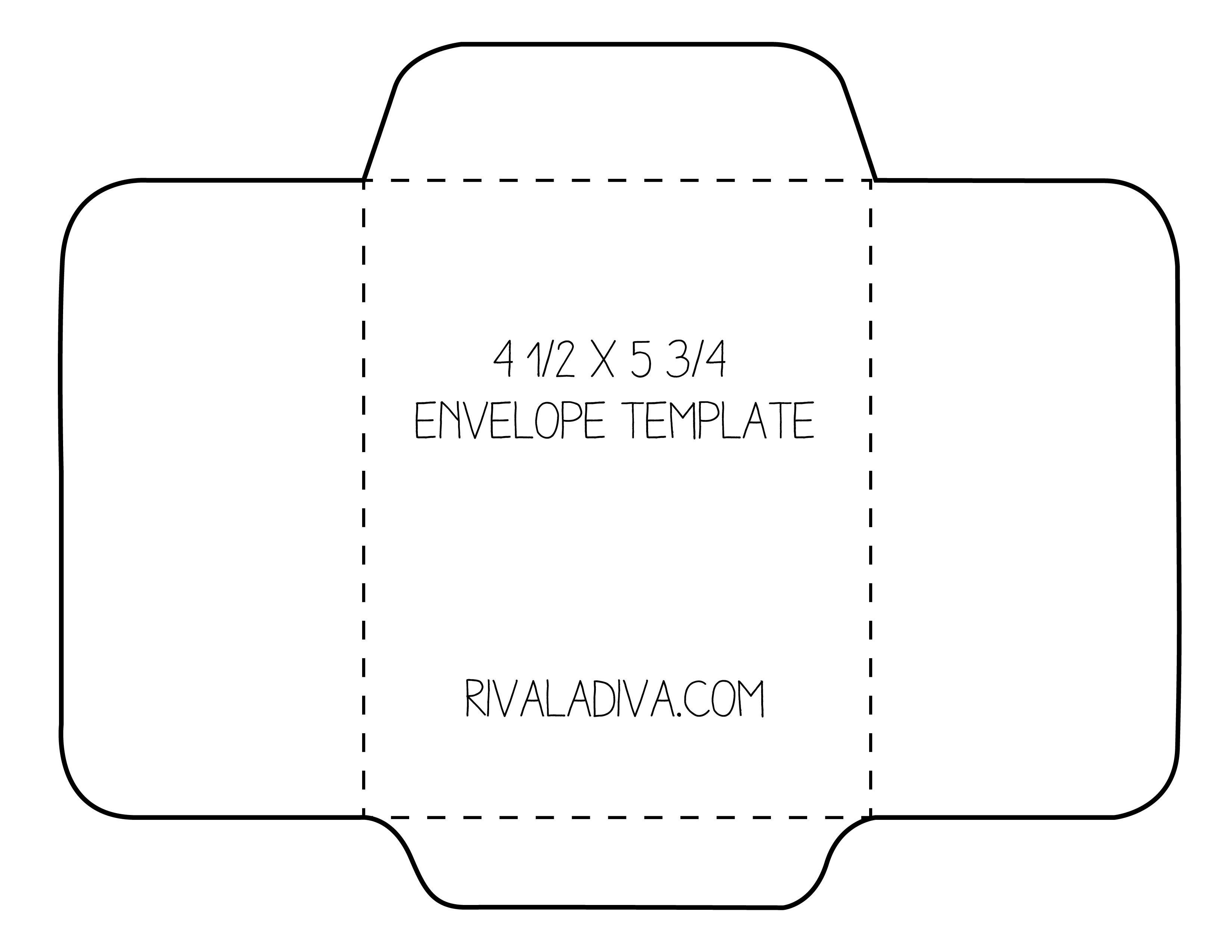 Gift Card Envelope Template Envelope Template