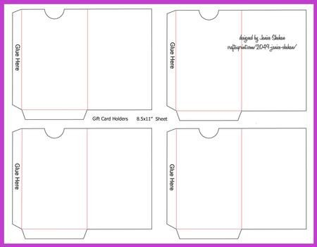 Gift Card Envelope Template Gift or Credit Card Envelope Template Cup 2049