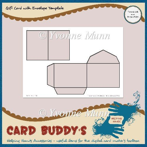 Gift Card Envelope Templates Gift Card with Envelope Template – Cu Pu £1 80 Instant