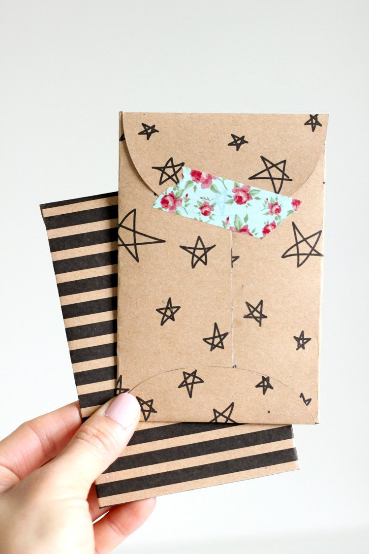 Gift Card Envelope Templates Kraft Paper Gift Card Envelope – Free Printable