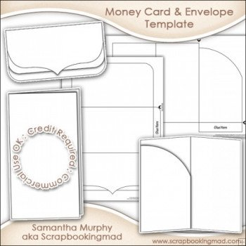 Gift Card Envelope Templates Money Gift Card & Envelope Template Mercial Use £3 50