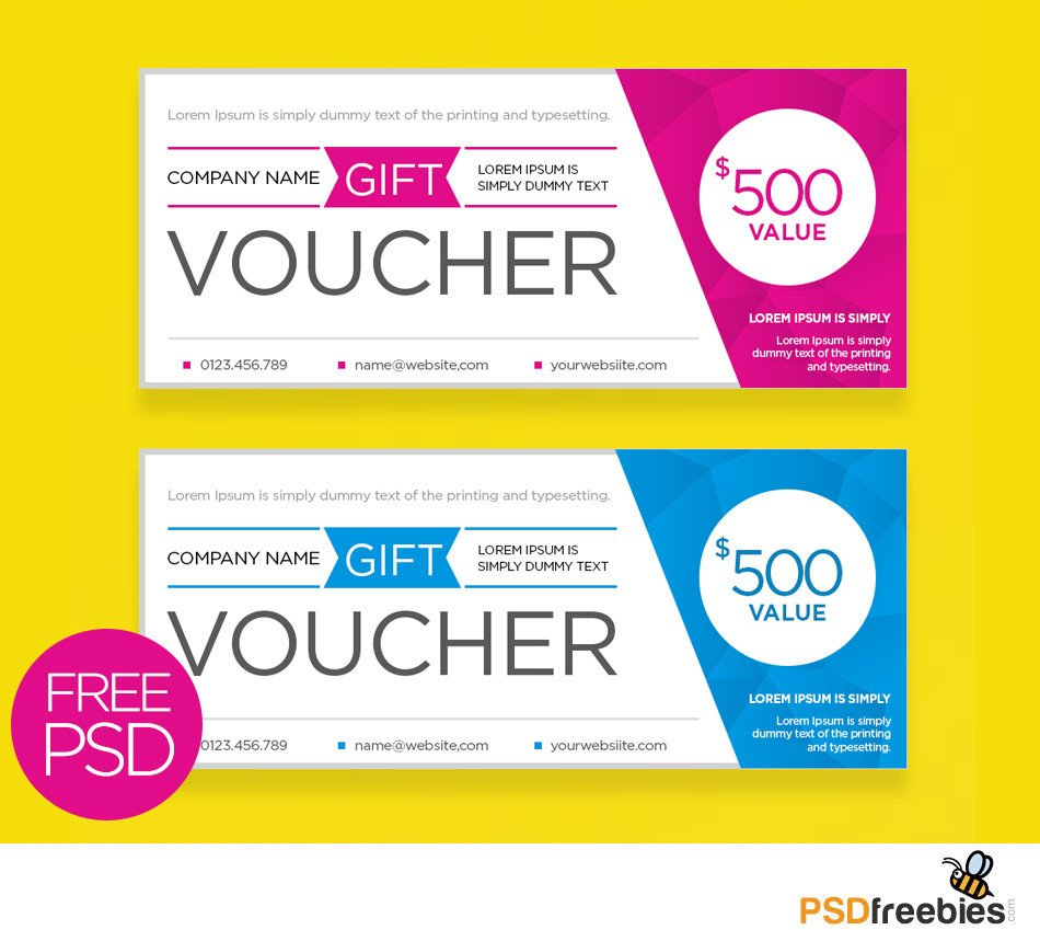 Gift Card Template Psd Clean and Modern Gift Voucher Template Psd Psdfreebies