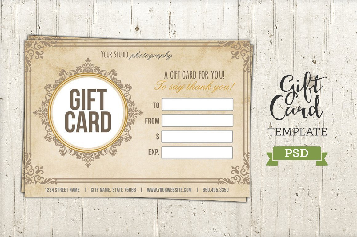 Gift Card Template Psd Gift Card Template Psd Certificate Templates