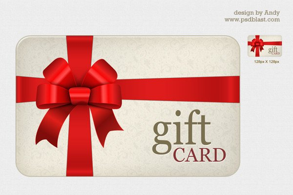 Gift Card Template Psd High Resolution Gift Card Psd