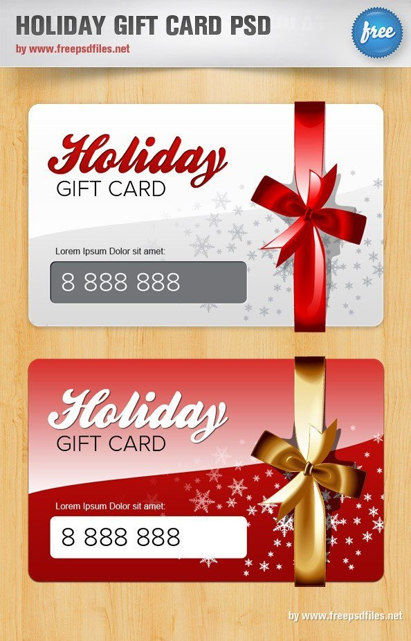 Gift Card Template Psd Holiday Gift Card Psd Template Free Psd Files