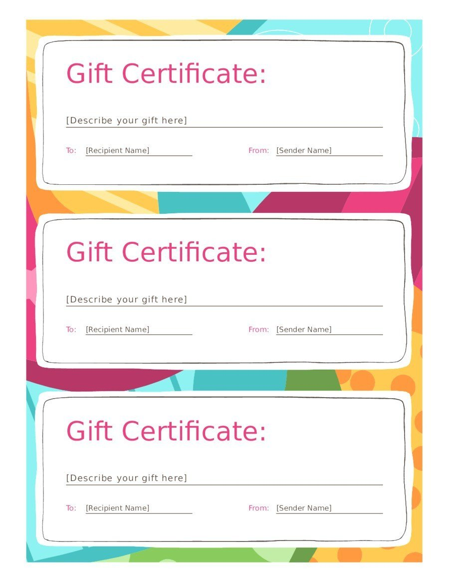 Gift Certificate Template Google Docs 12 13 Free Templates for T Vouchers