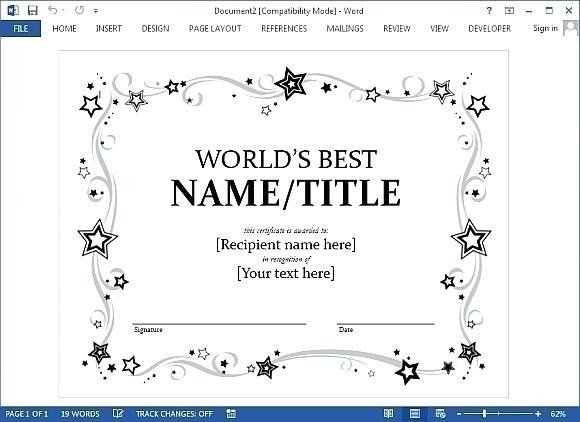 Gift Certificate Template Google Docs Certificate Template Google Docs 2018