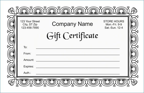 Gift Certificate Template Google Docs Google Docs Gift Certificate Template