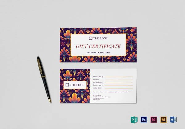 Gift Certificate Template Google Docs Sample Gift Certificate Template 64 Documents Download