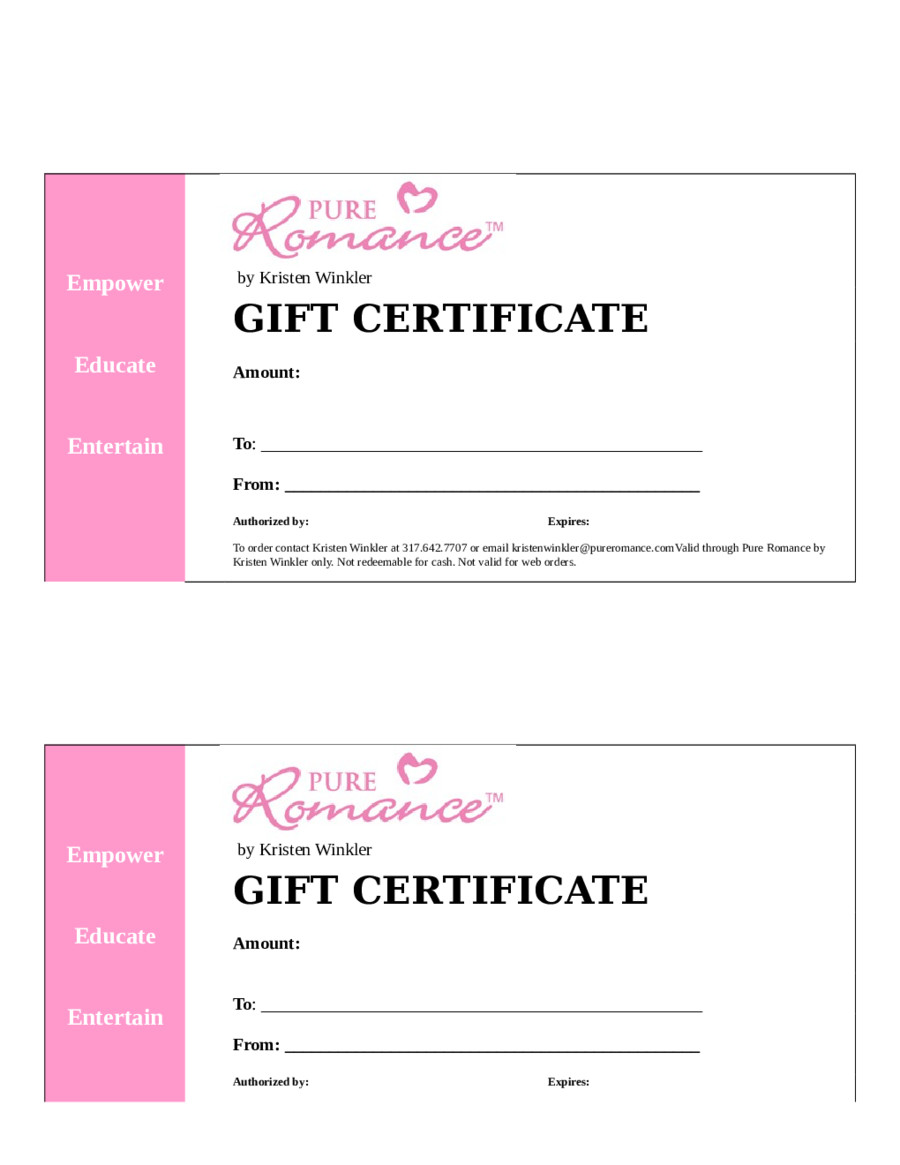 Gift Certificate Template Word 2019 Gift Certificate form Fillable Printable Pdf