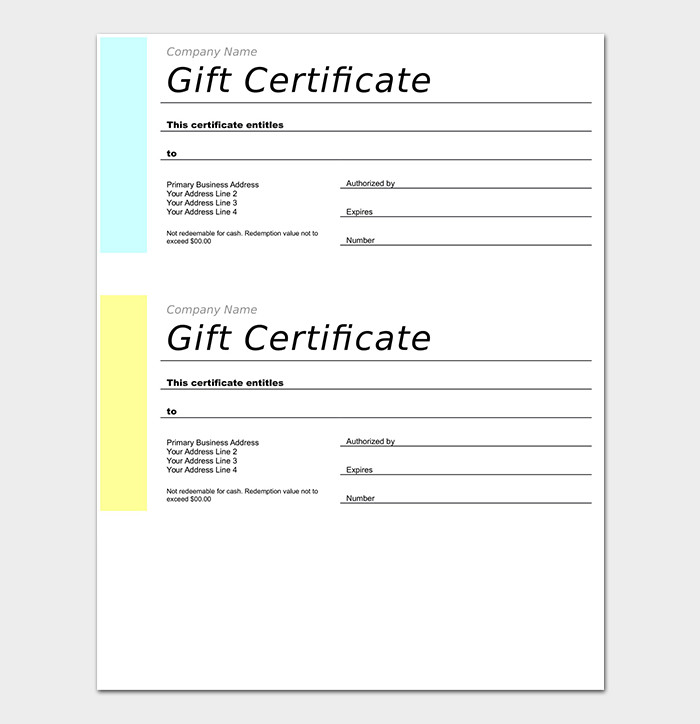 Gift Certificate Template Word 44 Free Printable Gift Certificate Templates for Word & Pdf