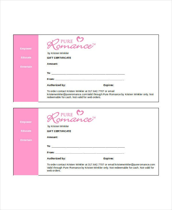 Gift Certificate Template Word Gift Certificate Template Word 9 Free Word Documents