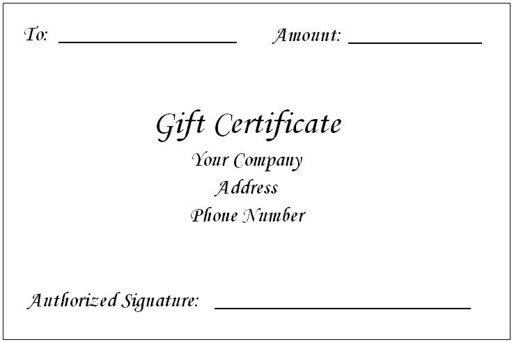 Gift Certificate Template Word Gift Certificate Template Word