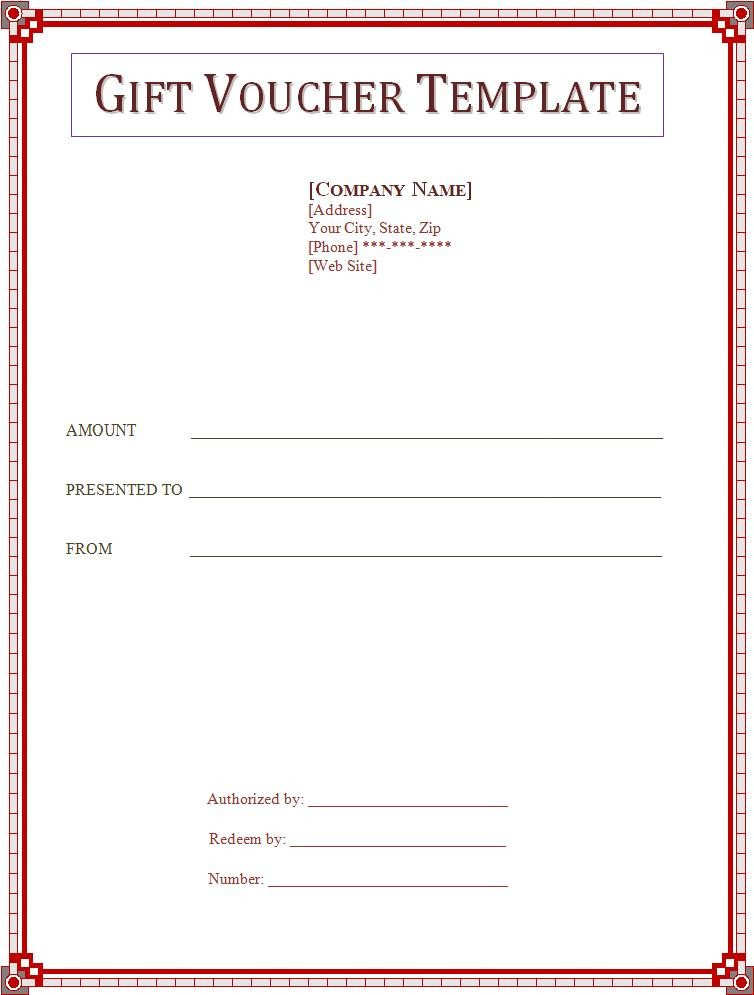 Gift Certificate Template Word Voucher Templates