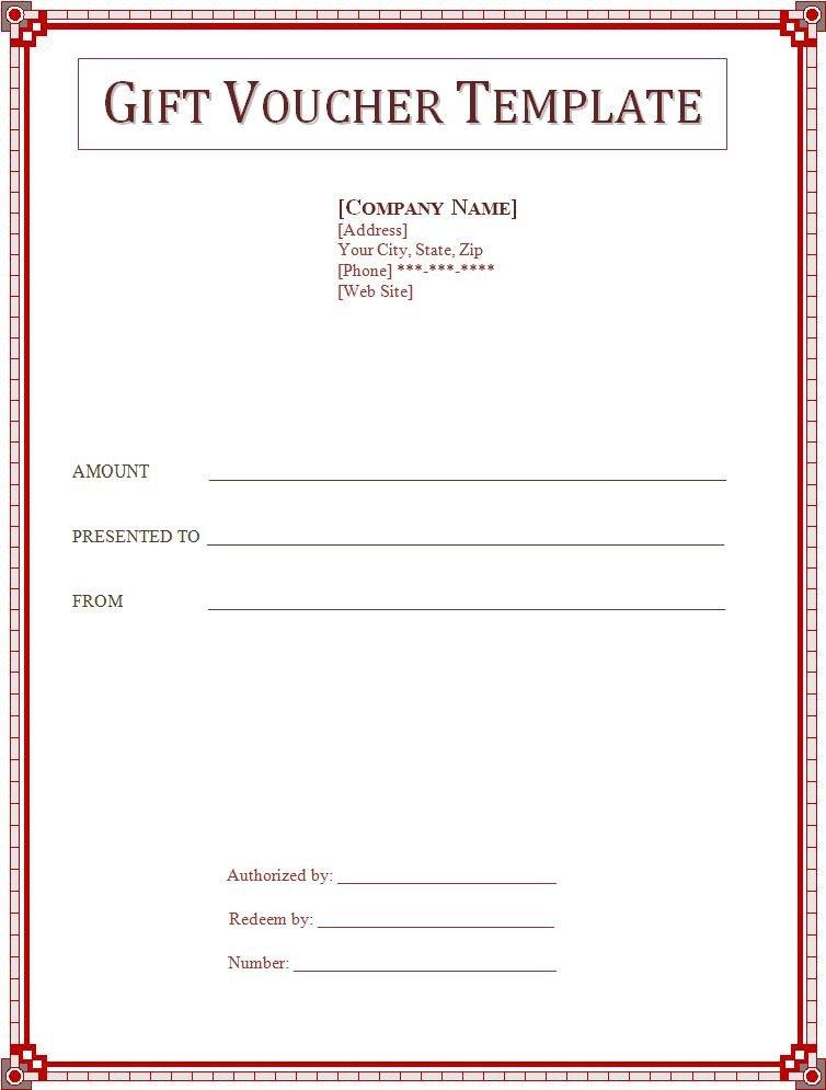 Gift Certificate Template Word Voucher Templates