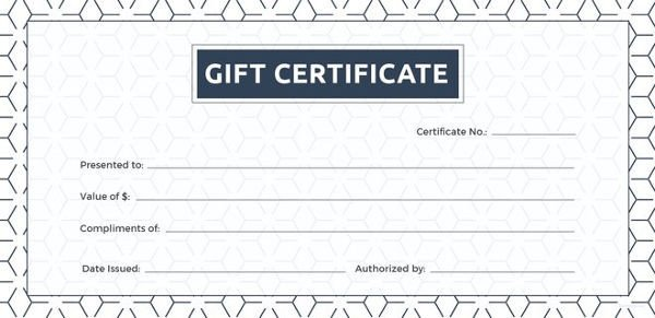 Gift Certificate Templates Free 12 Blank Gift Certificate Templates – Free Sample