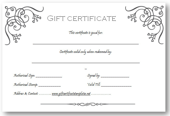 Gift Certificate Templates Free Art Business T Certificate Template