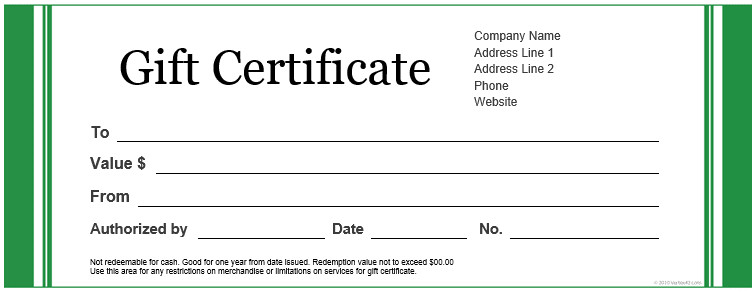 Gift Certificate Templates Free Custom Gift Certificate Templates for Microsoft Word