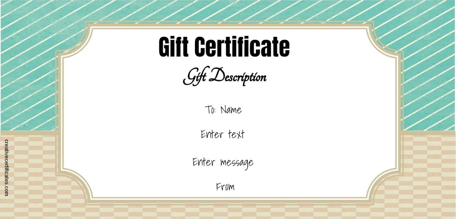 Gift Certificate Templates Free Free Gift Certificate Template 50 Designs