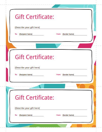 Gift Certificate Templates Free Gift Certificate Template Free Download Create Fill