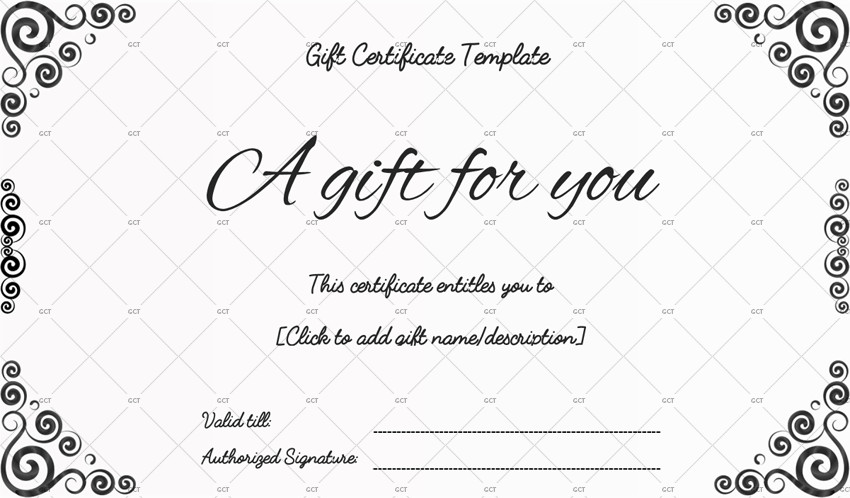 Gift Certificate Templates Free Sna Rounds Gift Certificate Template for Word