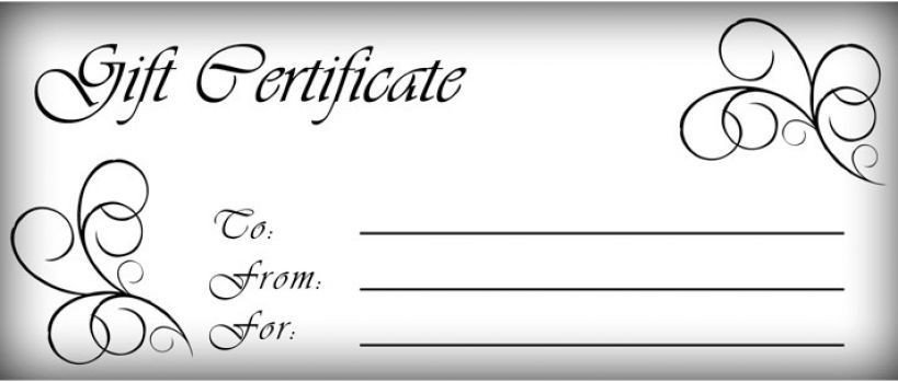 Gift Certificate Templates Free T Certificates Templates