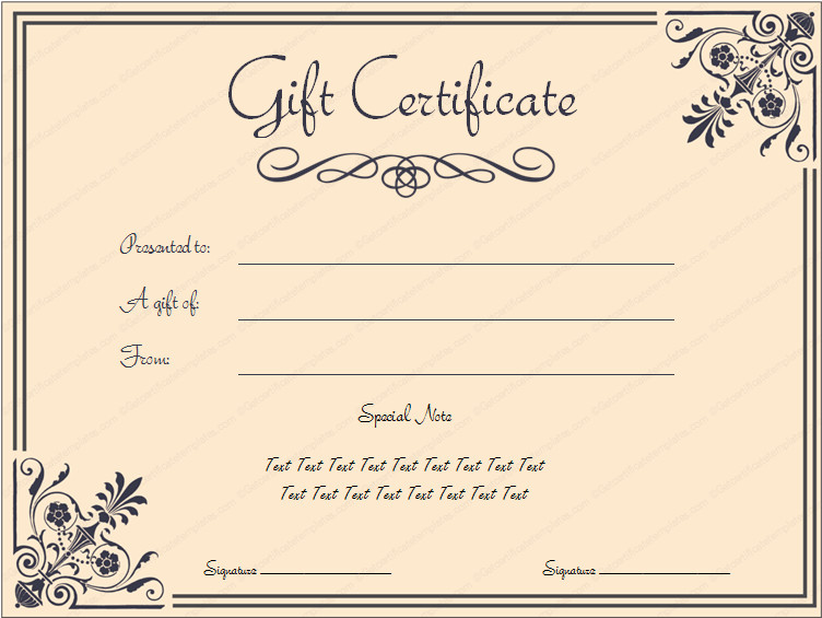 Gift Certificate Templates Free Tvoucher Ttemplate Tcertificate