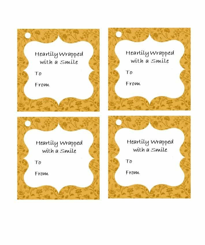 Gift Tag Template Word 44 Free Printable Gift Tag Templates Template Lab