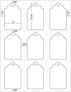 Gift Tag Template Word Templates Christmas