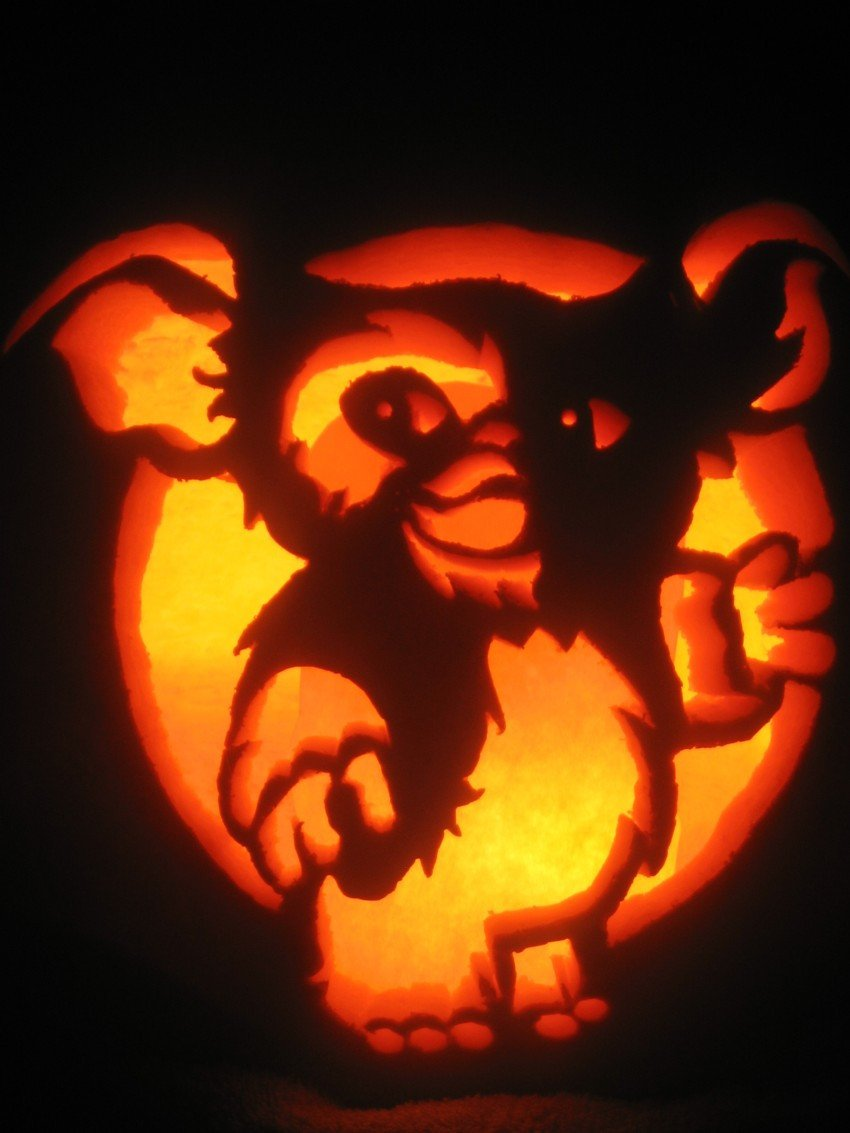 Gizmo Pumpkin Stencil Gizmo by Pumpkinmaster On Deviantart