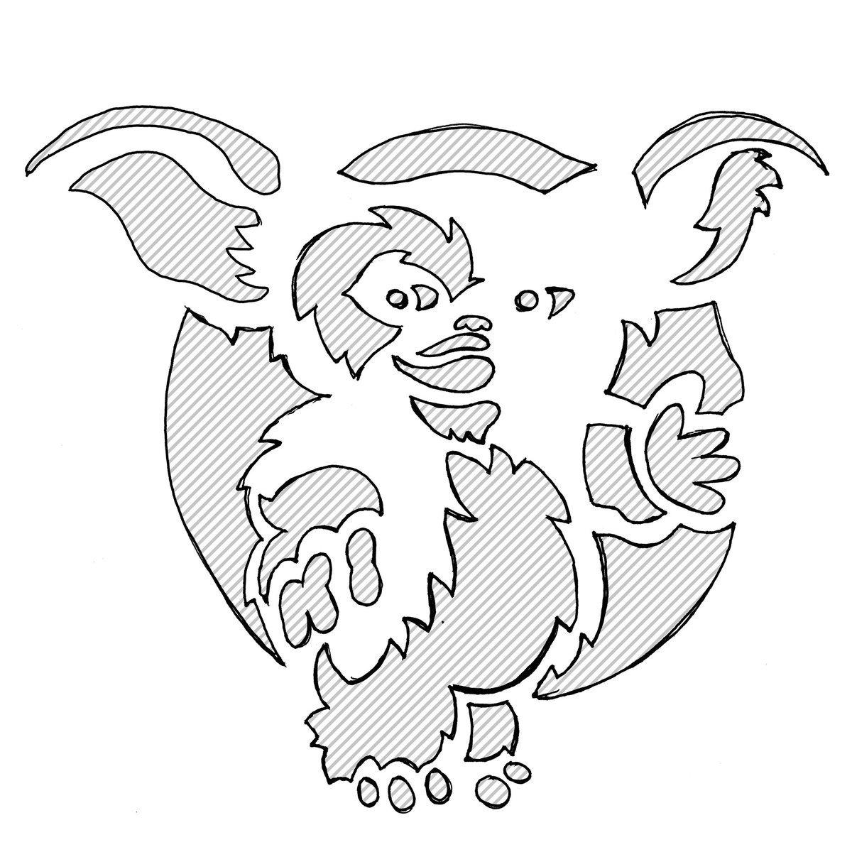 """Gizmo Pumpkin Stencil Jesse Acosta On Twitter """"drew Up A Gizmo Jack O Lantern"""