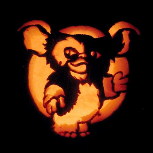 "Gizmo Pumpkin Stencil ""gizmo"" Pumpkin Carving"