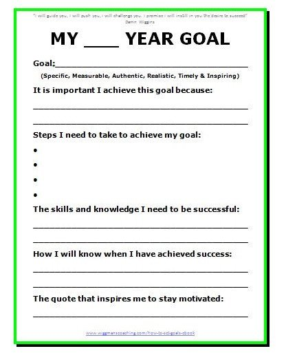 Goals and Accomplishments Template 11 Effective Goal Setting Templates for You