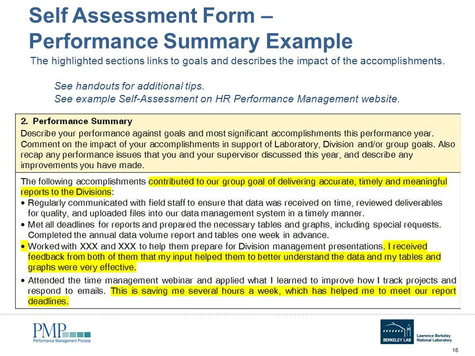 Goals and Accomplishments Template Annual Self assessment Workshop for Employees Ppt Video