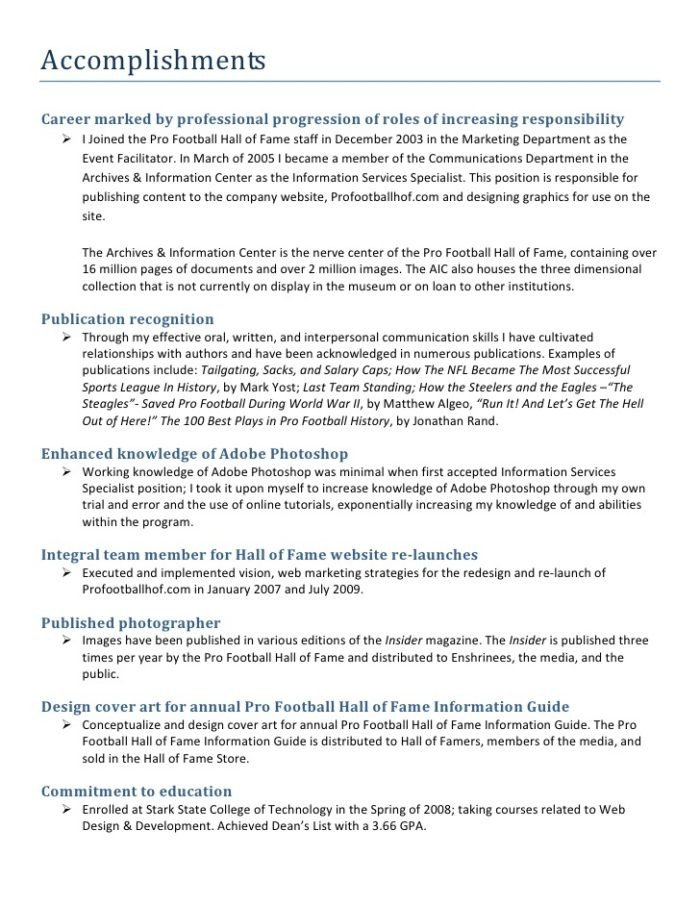 Goals and Accomplishments Template Career Portfolio Template Microsoft Word Templates