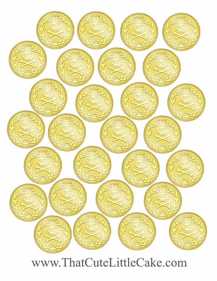 Gold Coin Template Printable 145 Best Images About Jake & the Neverland Pirates theme