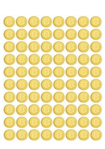 Gold Coin Template Printable Gold Bitcoins Printable Template