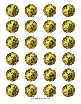 Gold Coin Template Printable Printable Dollar Coin Realistic