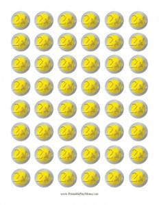 Gold Coin Template Printable Printable Play Money