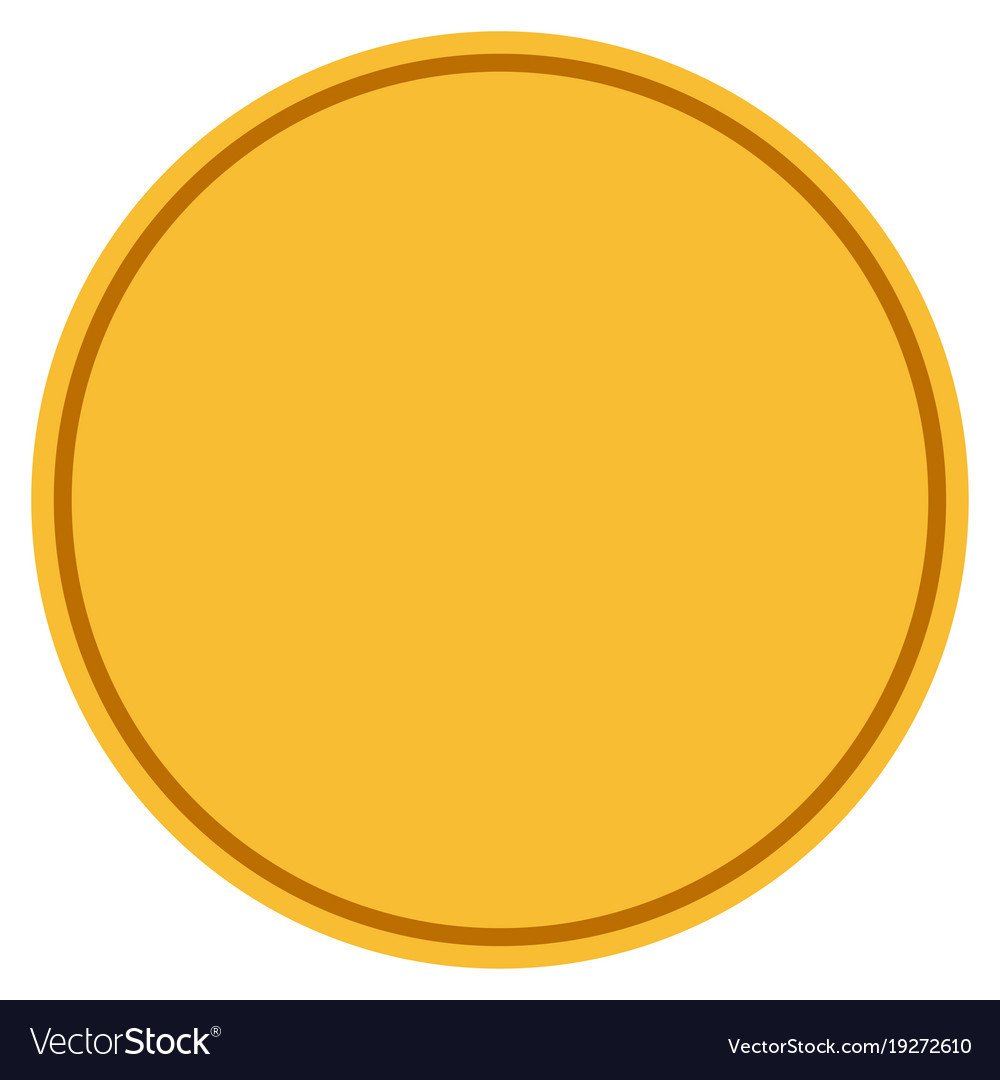 Gold Coin Template Printable Round Template Gold Coin Royalty Free Vector Image