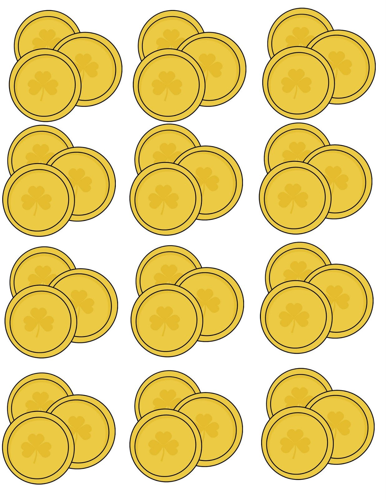 Gold Coin Template Printable St Patrick S Day Rainbow Craft Activity 3 Day Freebie