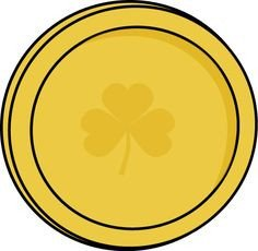Gold Coin Template Printable St Patricks Day Crafts Print Your Gold Coin Template at