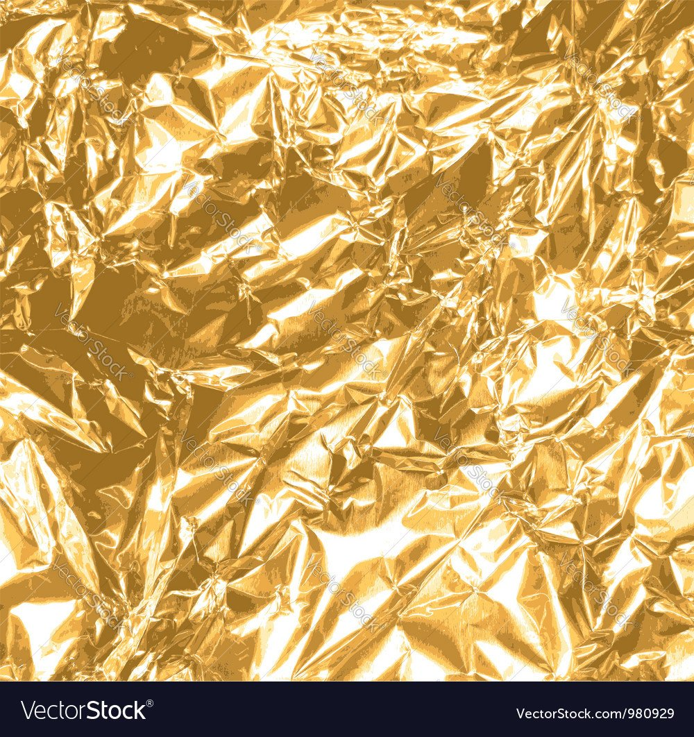 Gold Foil Texture Free Gold Foil Texture Royalty Free Vector Image Vectorstock