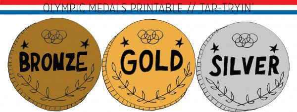 Gold Medal Printable Gold Medals for Everyone Tar Tryin