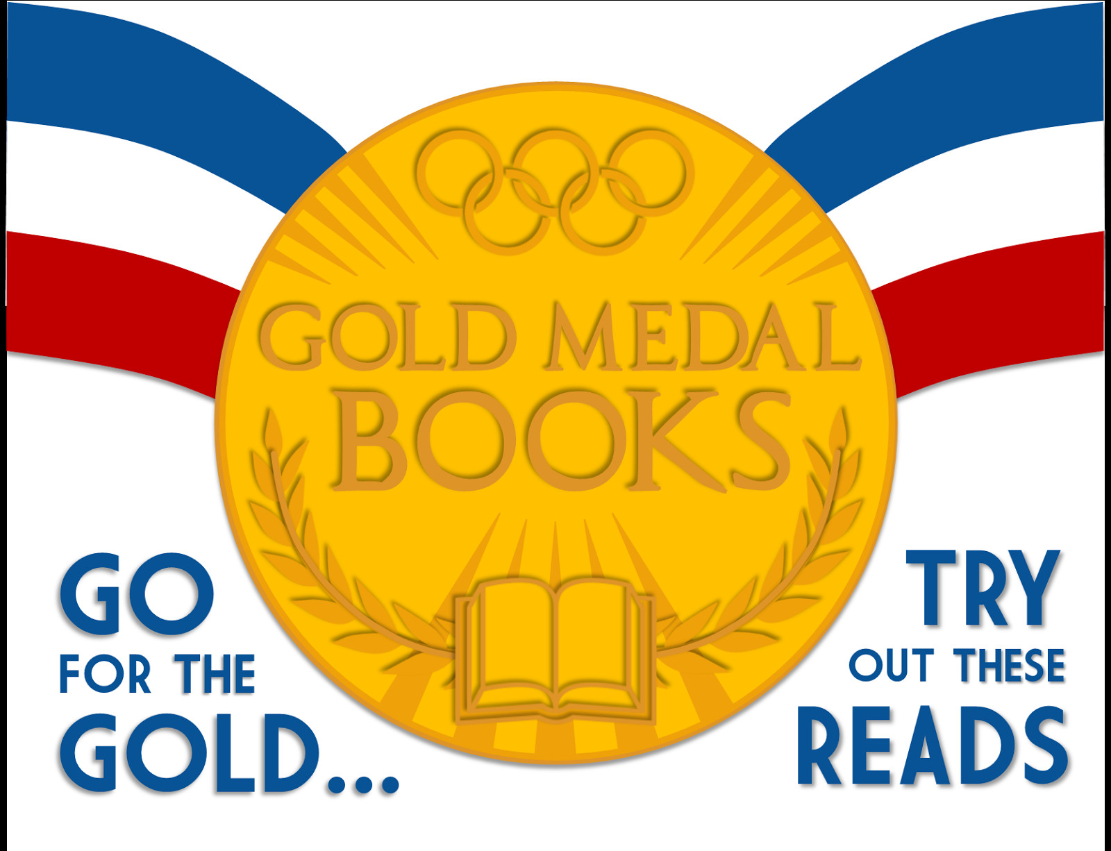 "Gold Medal Printable Literary Hoots ""gold Medal Books"" Olympics Library Display"
